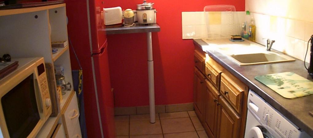 La cuisine ouverte sur la varangue